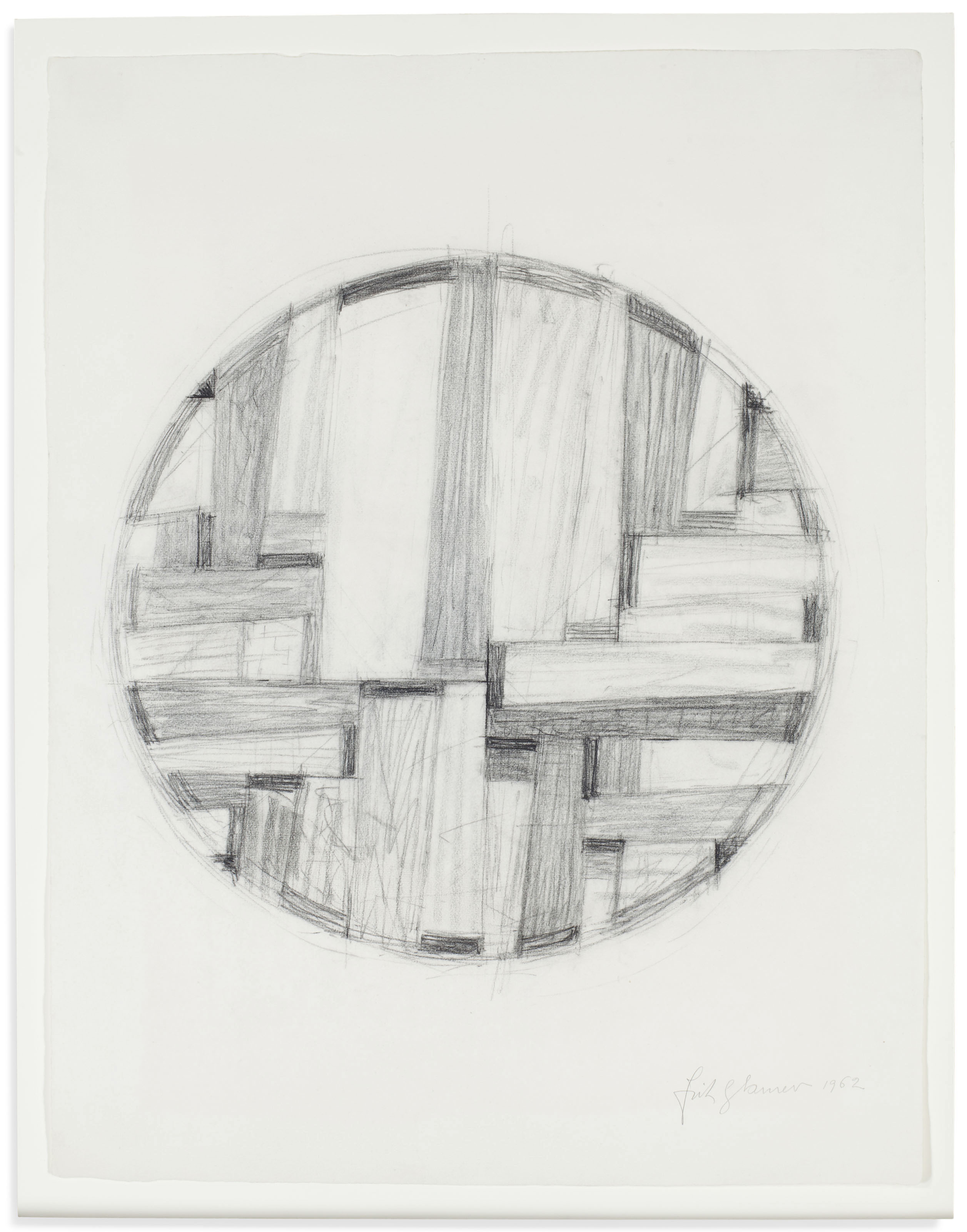 Study for Tondo; together with a companion print