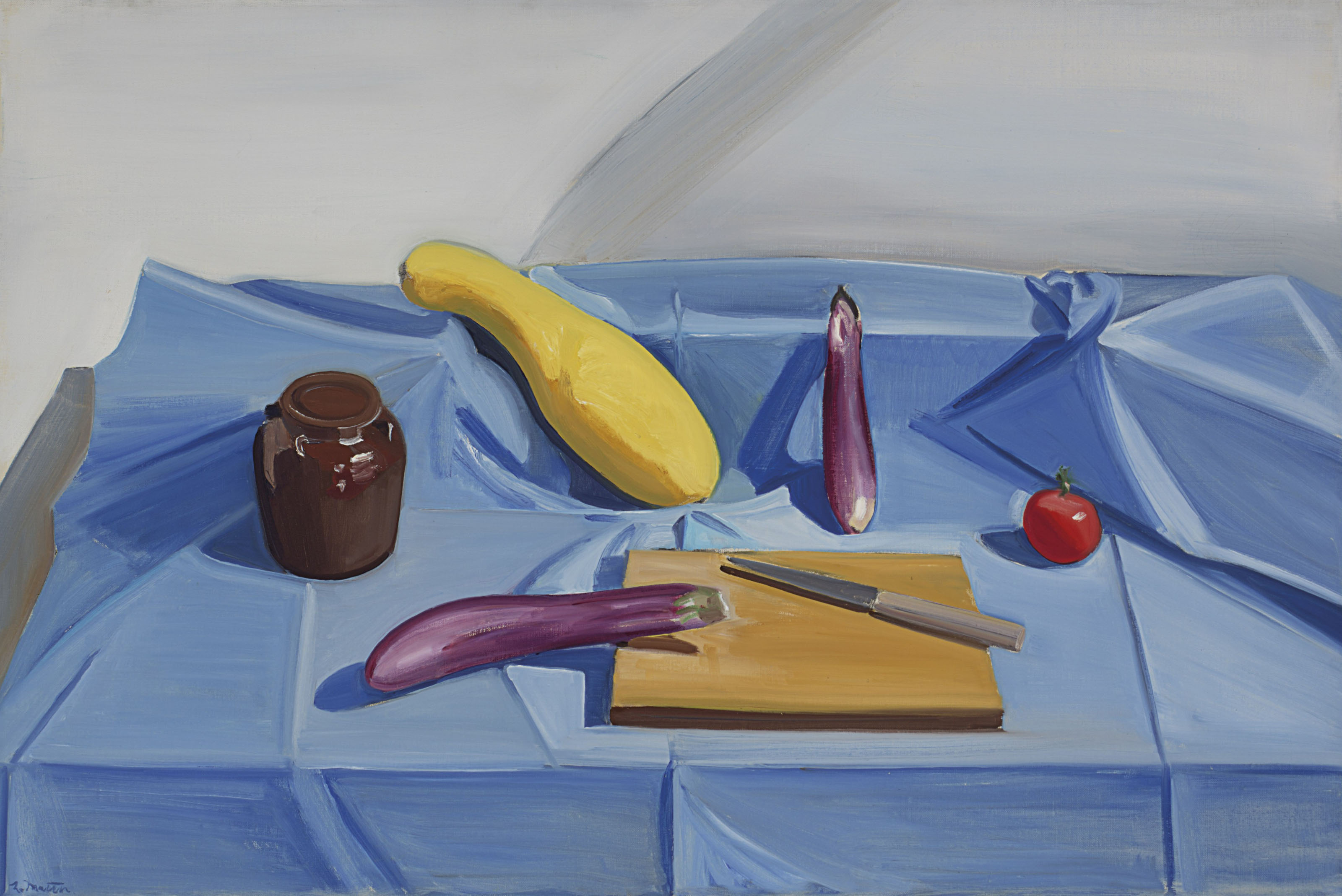 Still life with Chinese eggplant and squash