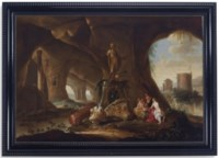 Nymphs in a grotto (two works)