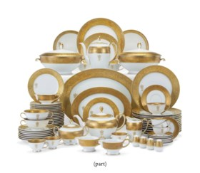 A ROSENTHAL PORCELAIN ROYAL MONOGRAMMED GOLD-GROUND PART DIN
