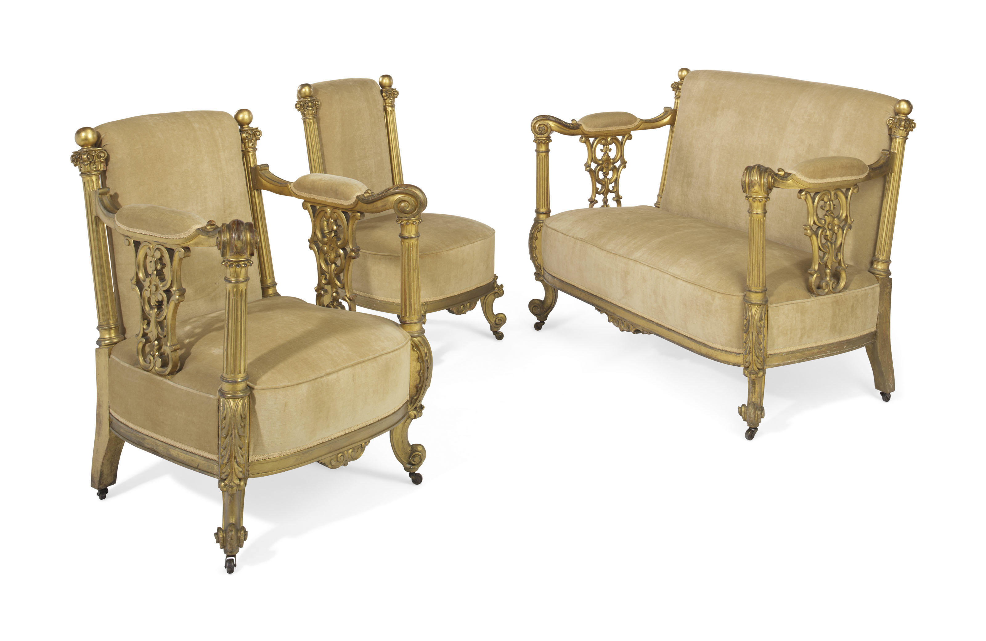 Salon Style New Yorkais an american giltwood salon suite | late 19th century | late