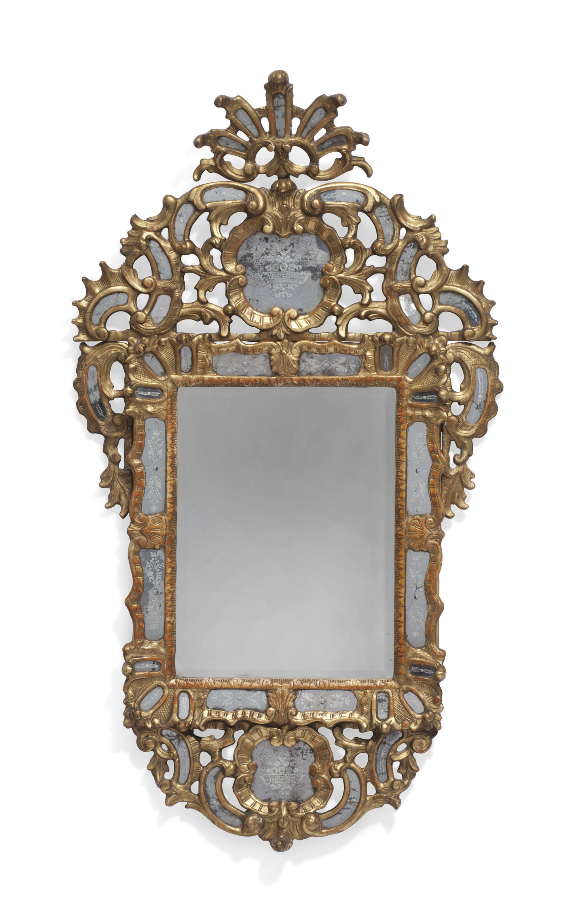 An Italian Giltwood And Etched