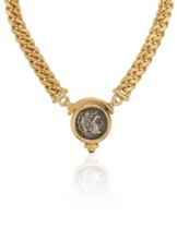 Cartier panther pendant necklace christies cartier panther bulgari coin necklace mozeypictures Image collections
