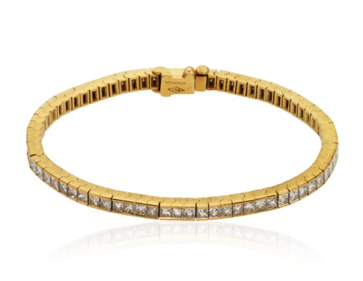 f7a10d44f TIFFANY & CO. DIAMOND LINE BRACELET, | Christie's