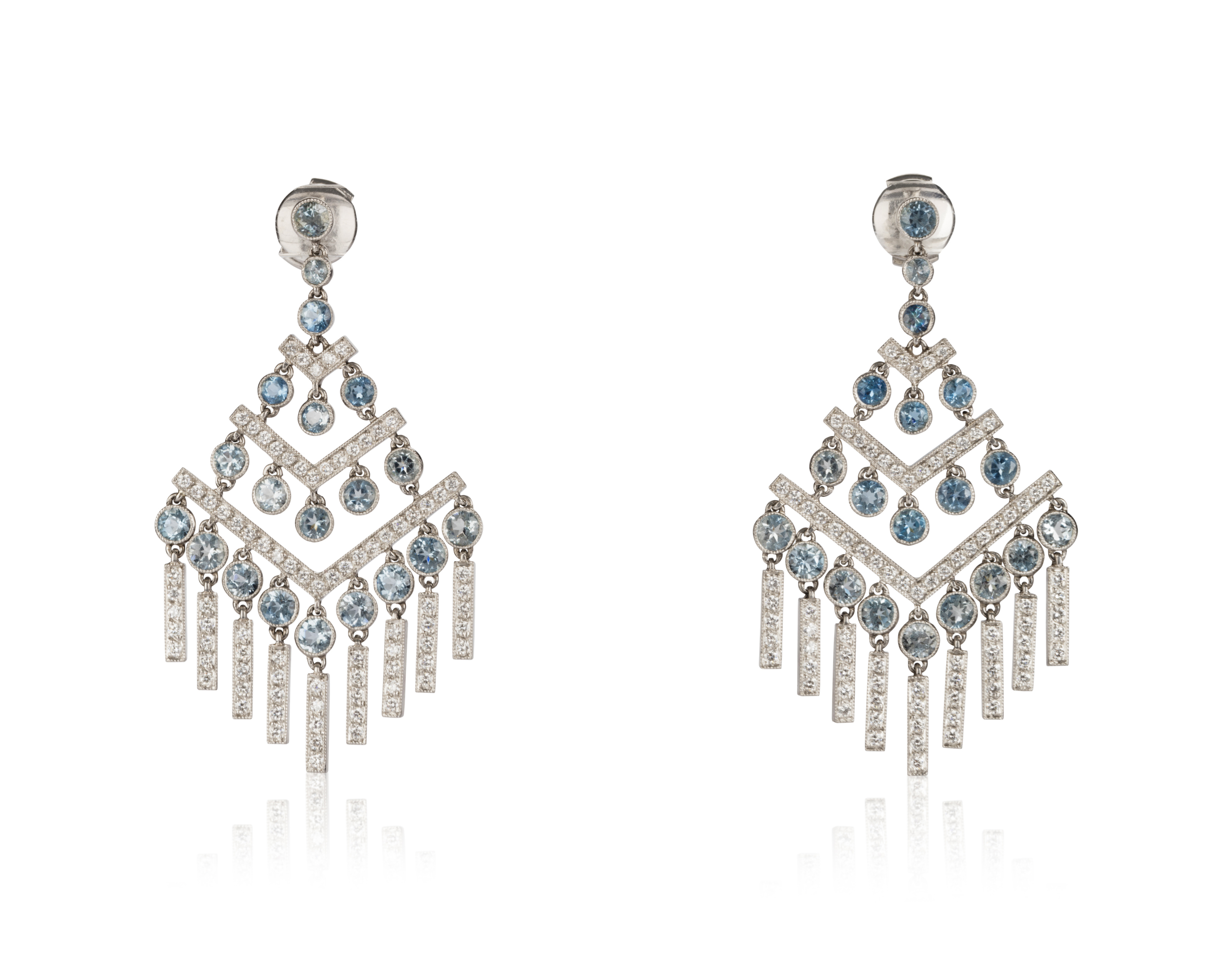 platinum tiffany diamond voile drop co earrings