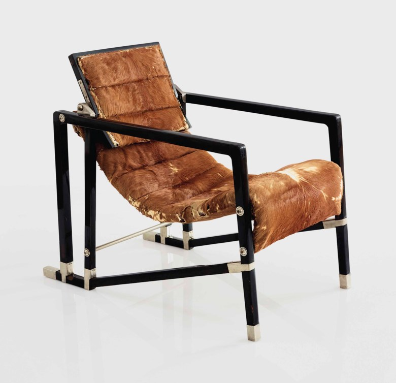 Eileen Gray (1879-1976), a 'Transat' armchair, 1927-1930. 29¼  in (74.3  cm) high, 21½  in (54.6  cm) wide, 34¾  in (88.2  cm) deep. Estimate $1,000,000-1,500,000. Offered in Design on 20 June 2018 at Christie's in New York