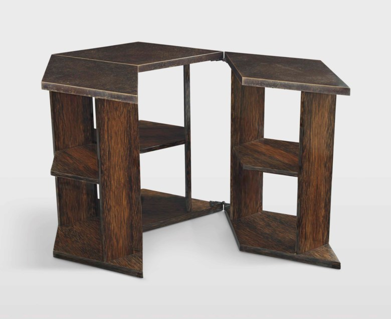 Eugene Printz (1889-1948), a folding table, circa 1928. 27  in (68.5  cm) diameter (closed). Estimate $80,000-120,000. Offered in Design on 20 June 2018 at Christie's in New York