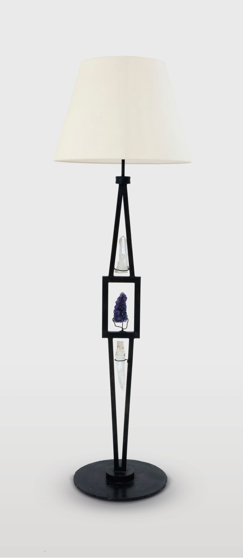 Marc du Plantier (1901-1975), a floor lamp, circa 1960. 67¾  in (172  cm) high overall. Estimate $70,000-100,000. Offered in Design on 20 June 2018 at Christie's in New York