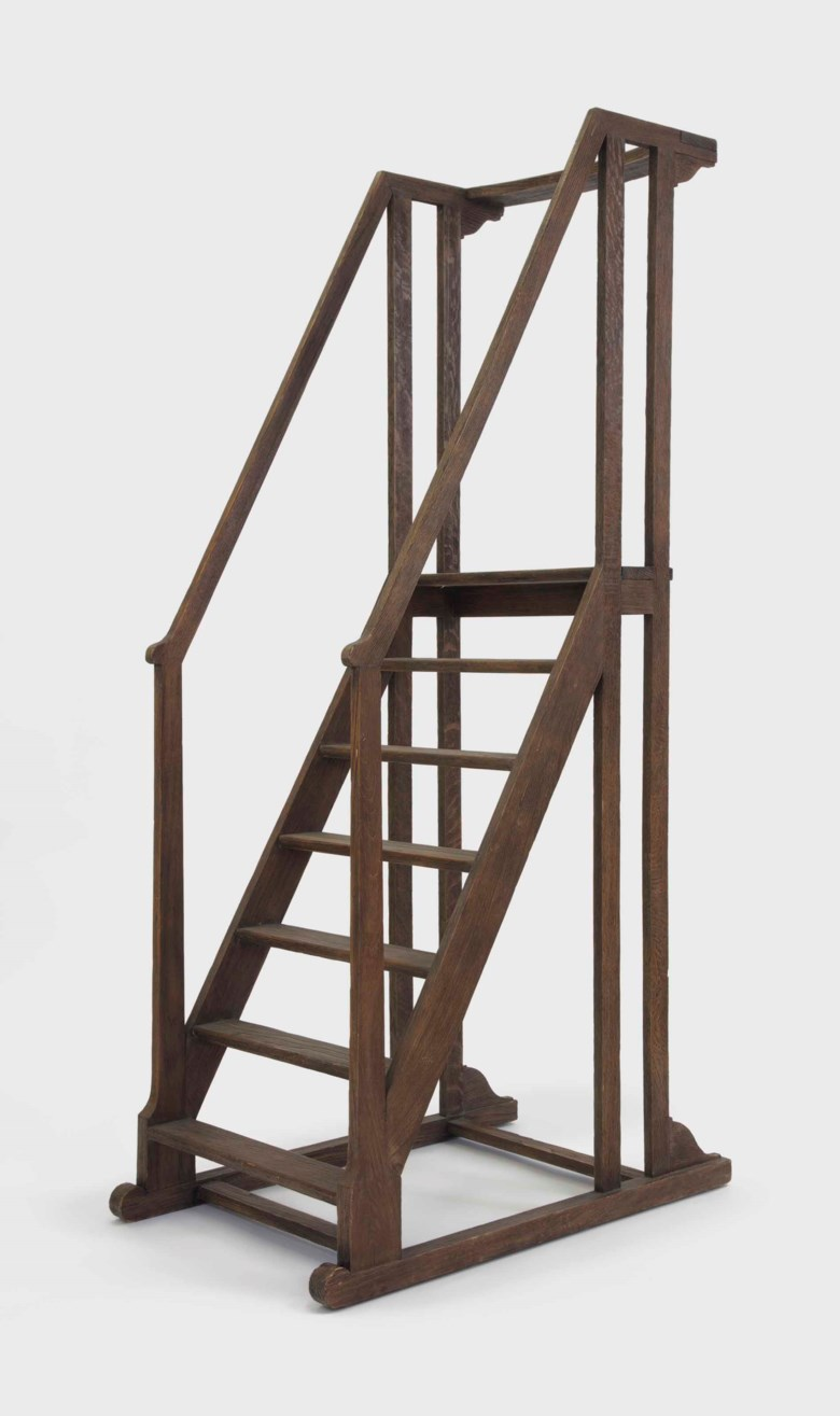 Jean-Michel Frank (1895-1941), a set of library steps, circa 1930. 78½  in (199.3  cm) high, 25  in (63.5  cm) wide, 39¼  in (99.7  cm) deep. Estimate $15,000-20,000. Offered in Design on 20 June 2018 at Christie's in New York