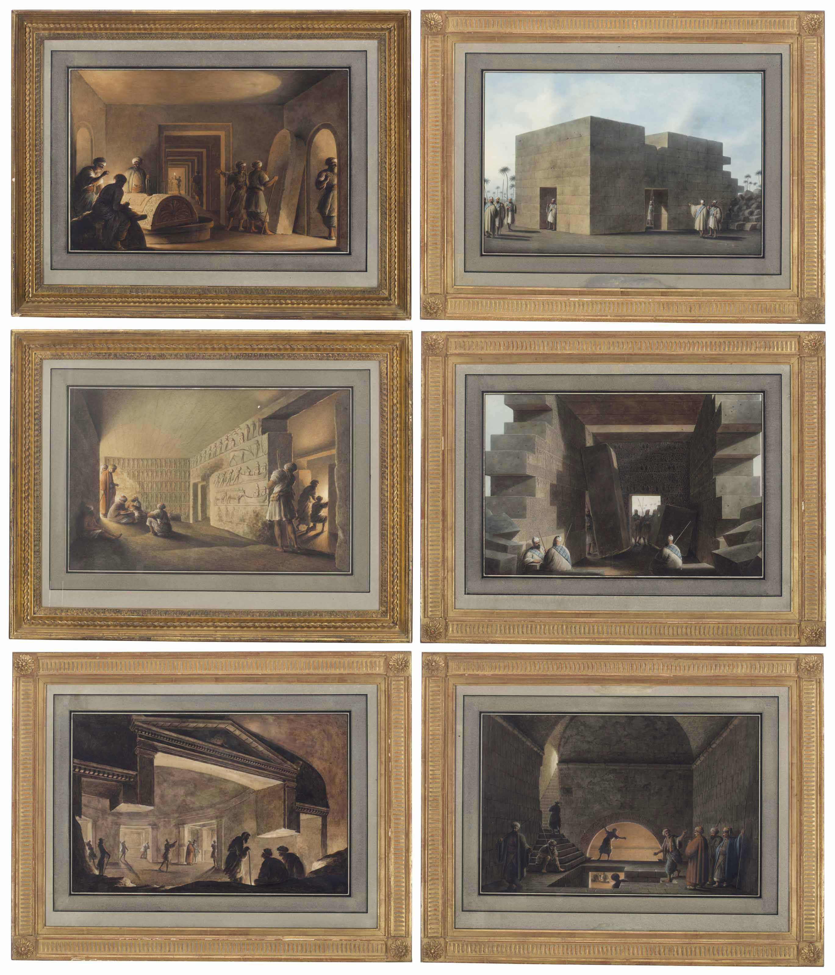 Excavations of Tombs and Ancient Buildings, Libya (six works)