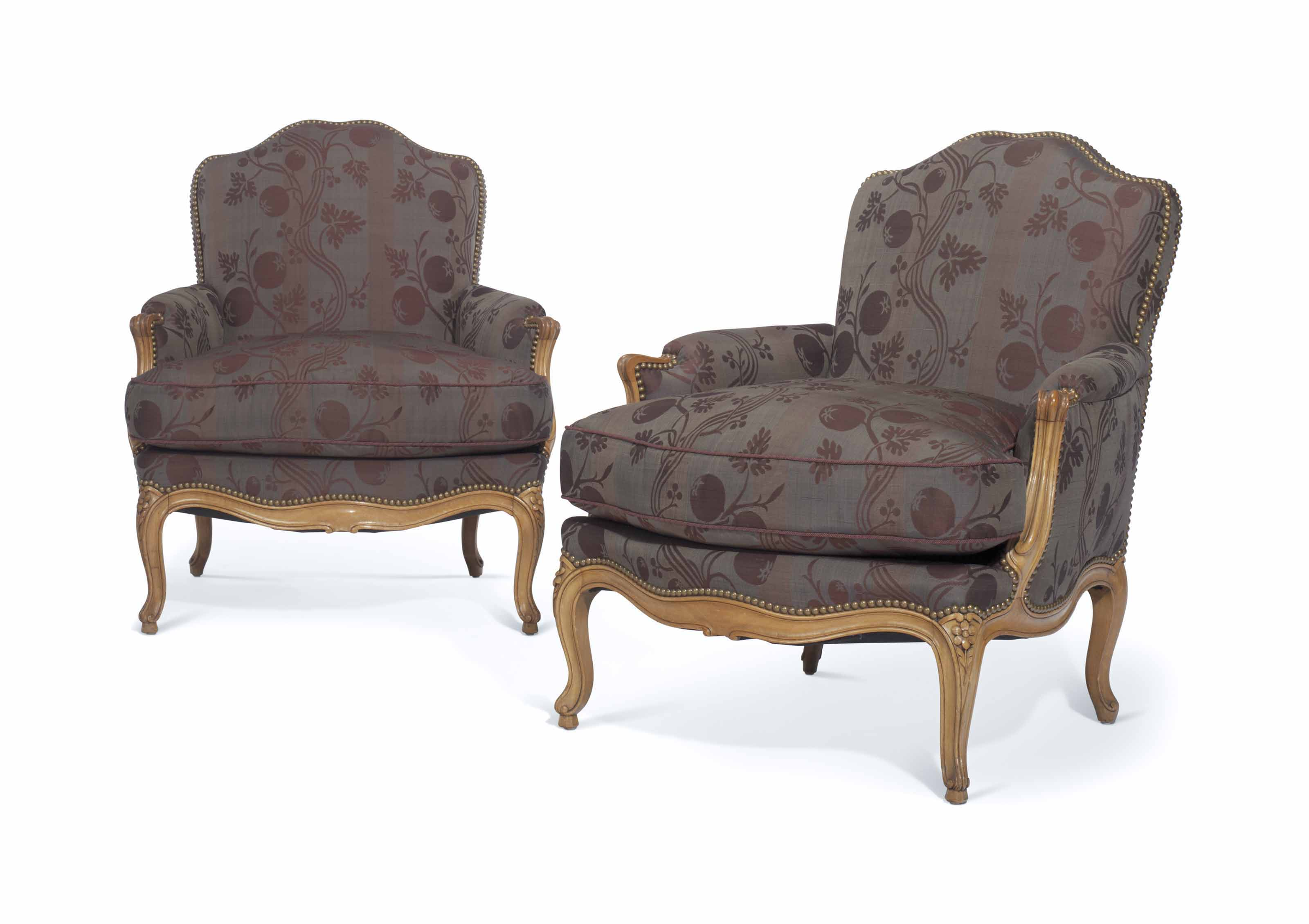 A PAIR OF LOUIS XV STYLE BEECH