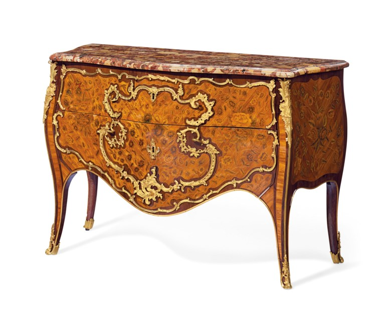 A Louis XV ormolu-mounted tulipwood, amaranth and fruitwood marquetry commode, by Pierre Roussel, circa 1750. Estimate $50,000-80,000. Offered in A Love Affair with France The Collection of Elizabeth Stafford on 1 November at Christie's in New York