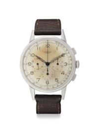 Universal. A Fine, Rare and Oversized Stainless Steel Chronograph Wristwatch