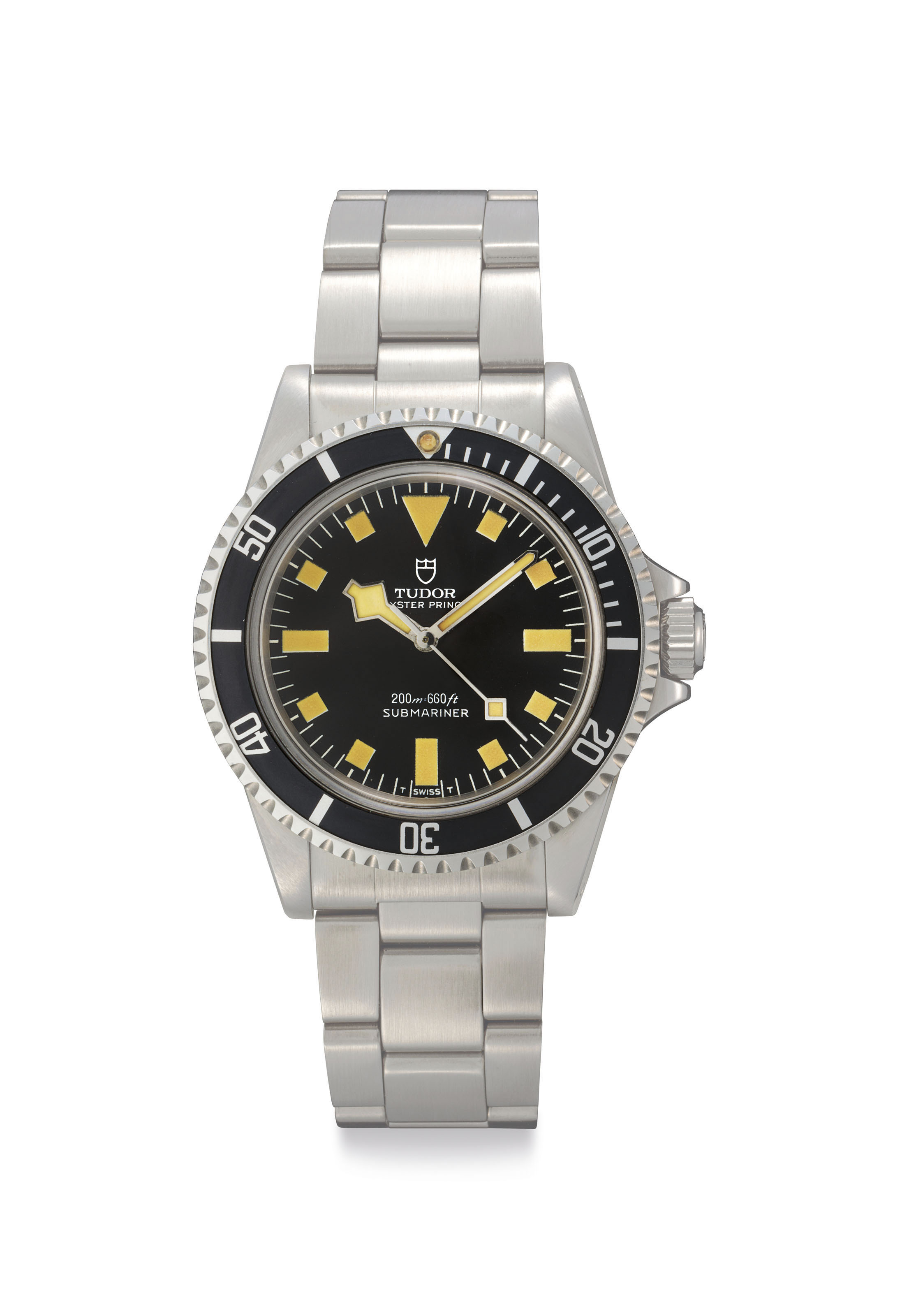 Tudor. A Fine Automatic Stainless Steel Wristwatch with Center Seconds and Bracelet