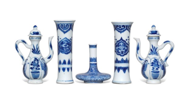 Collecting guide 10 tips on chinese ceramics christies five miniature blue and white porcelain vessels reviewsmspy