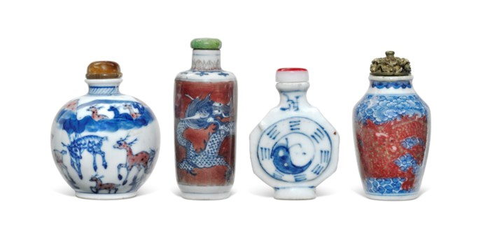 Chinese ceramic glazes collecting guide christies four underglaze blue porcelain snuff bottles reviewsmspy