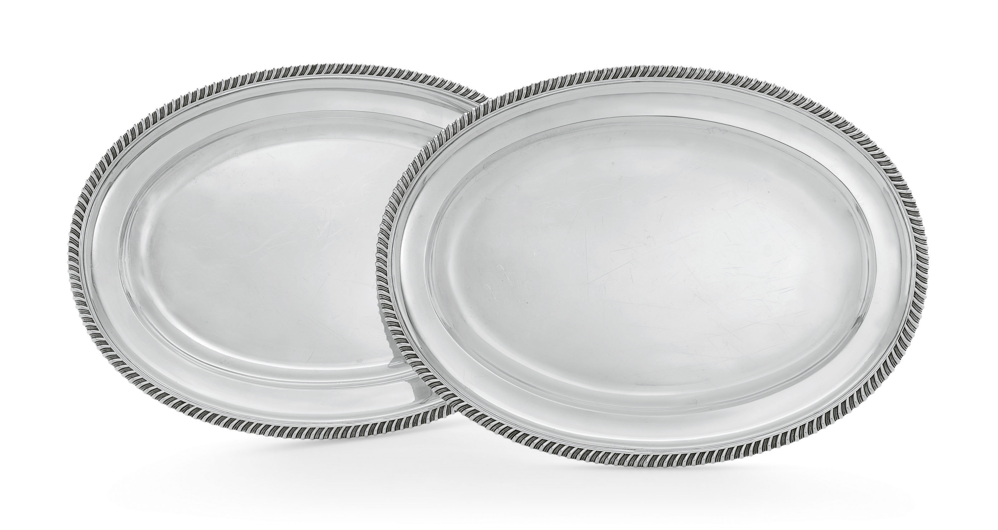 A PAIR OF WILLIAM IV SILVER ME