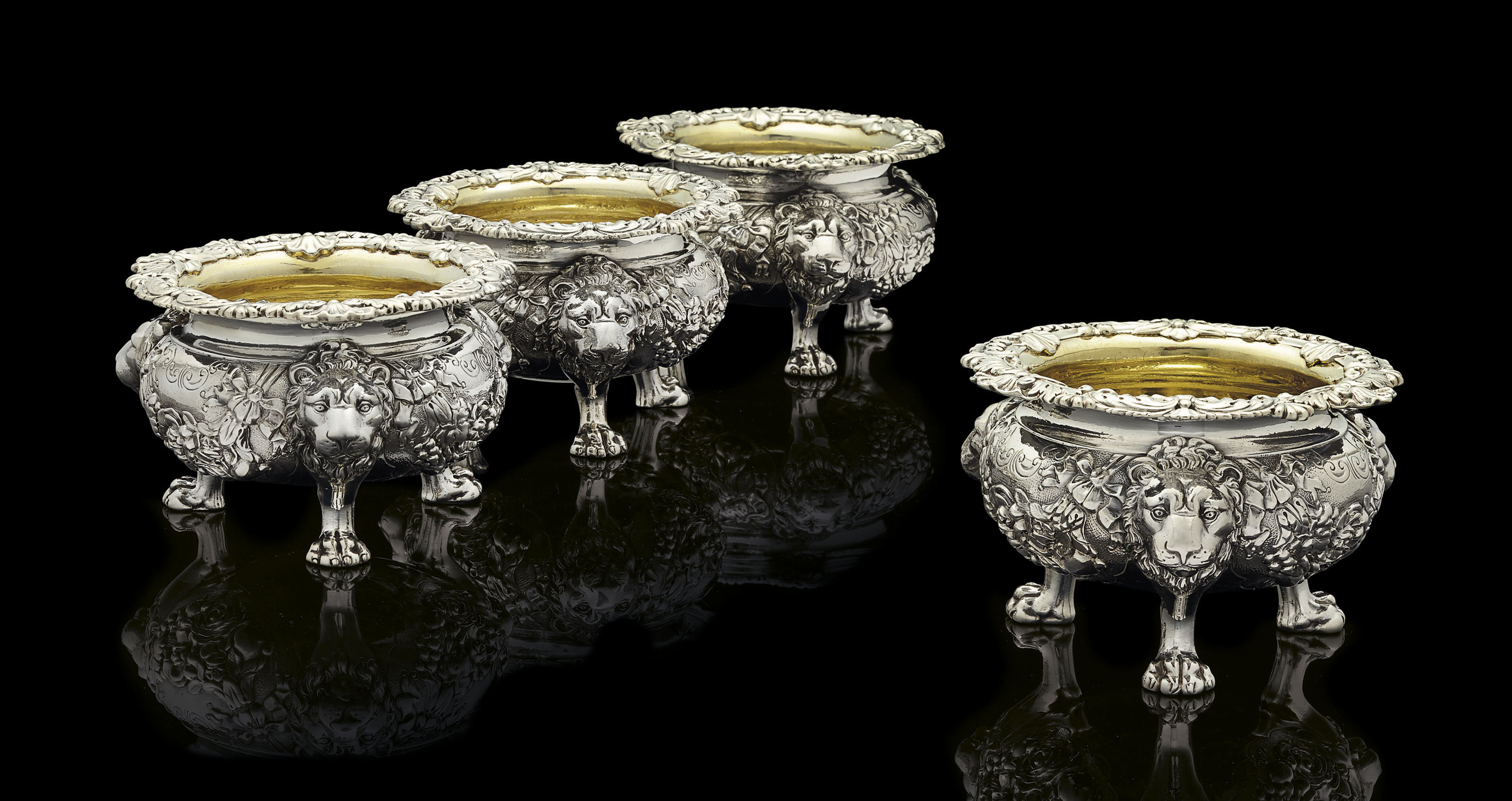 TWO PAIRS OF REGENCY SILVER SA