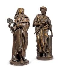 A pair of Orientalist figures
