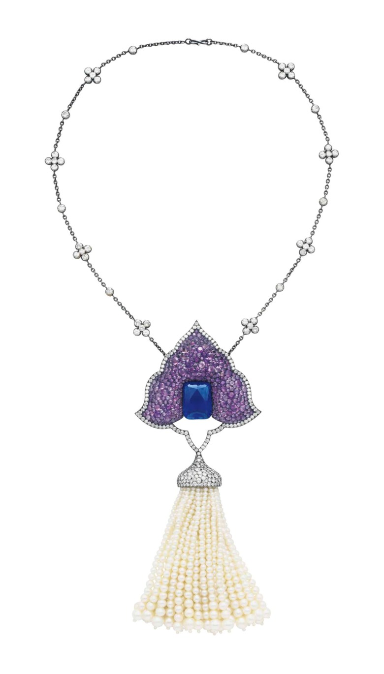 A superb multi-gem and diamond 'Moghul' pendant-brooch, by JAR. Estimate $200,000-400,000. This lot is offered in Magnificent Jewels on 17 April at Christie's in New York