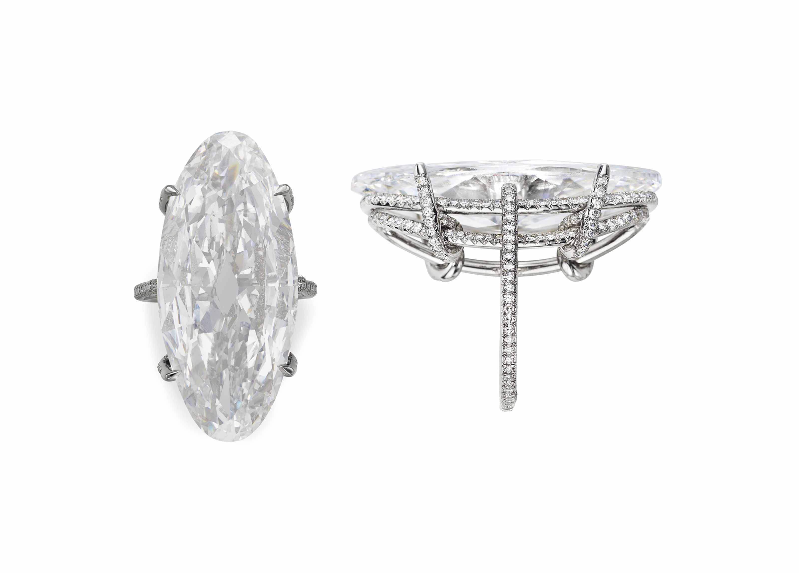 A MAGNIFICENT DIAMOND 'THREAD' RING, BY JAR