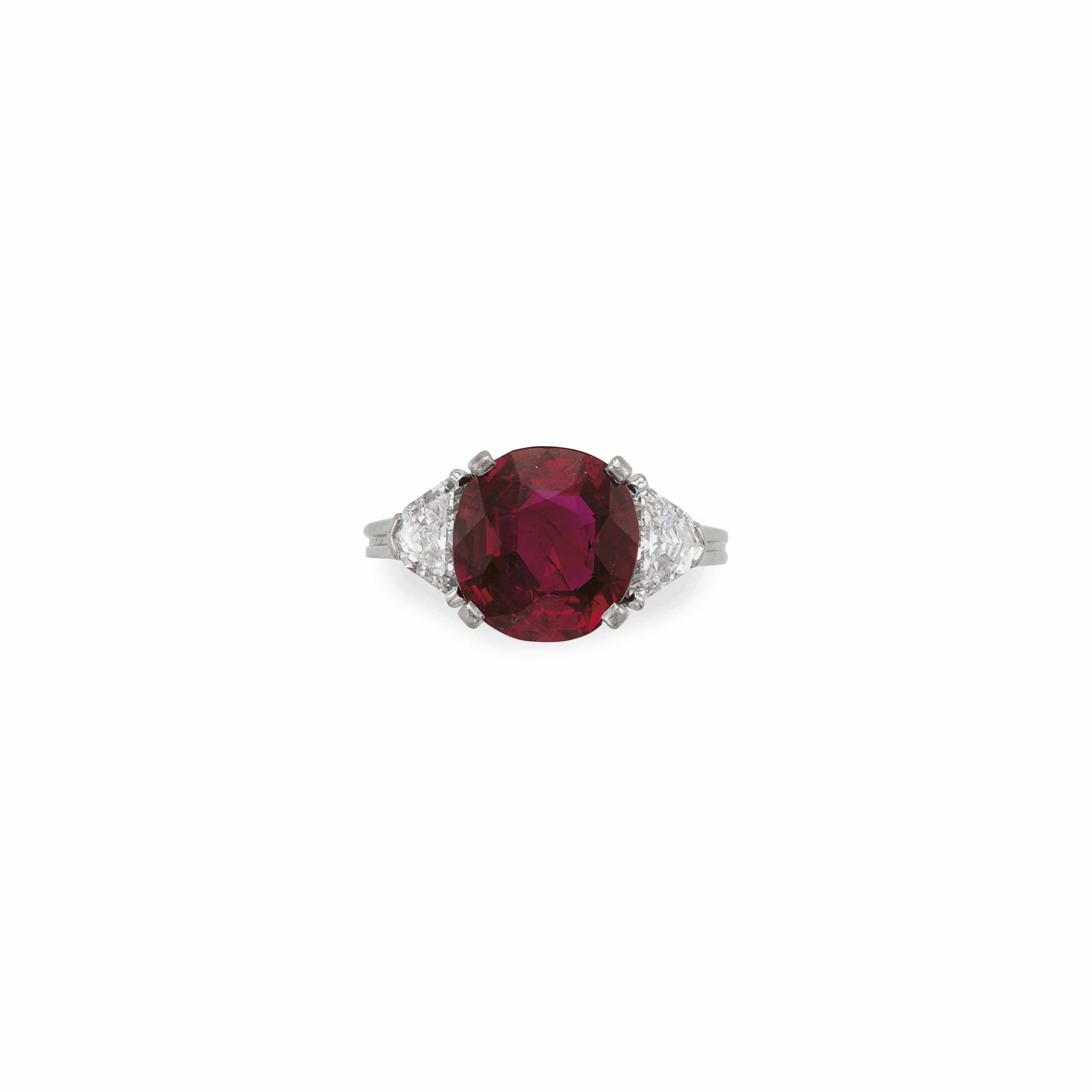 THE BERLIN RUBY A RUBY AND DIAMOND RING, BY TIFFANY & CO.