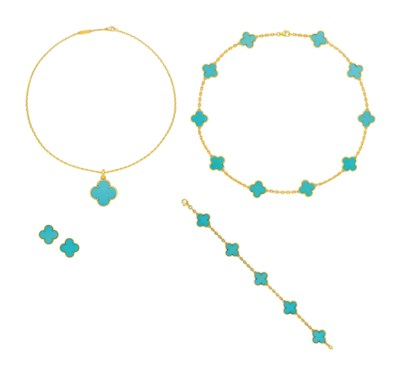 GROUP OF TURQUOISE 'ALHAMBRA'