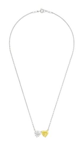 DIAMOND AND COLORED DIAMOND NECKLACE, HARRY WINSTON