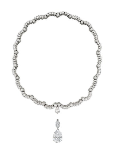DIAMOND PENDANT, JACQUES TIMEY, ATTRIBUTED TO HARRY