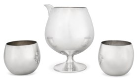 AN AMERICAN SILVER THREE-PIECE COCKTAIL SET