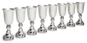 A SET OF EIGHT AMERICAN SILVER CORDIALS
