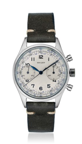 GALLET, TWO-REGISTER CHRONOGRAPH