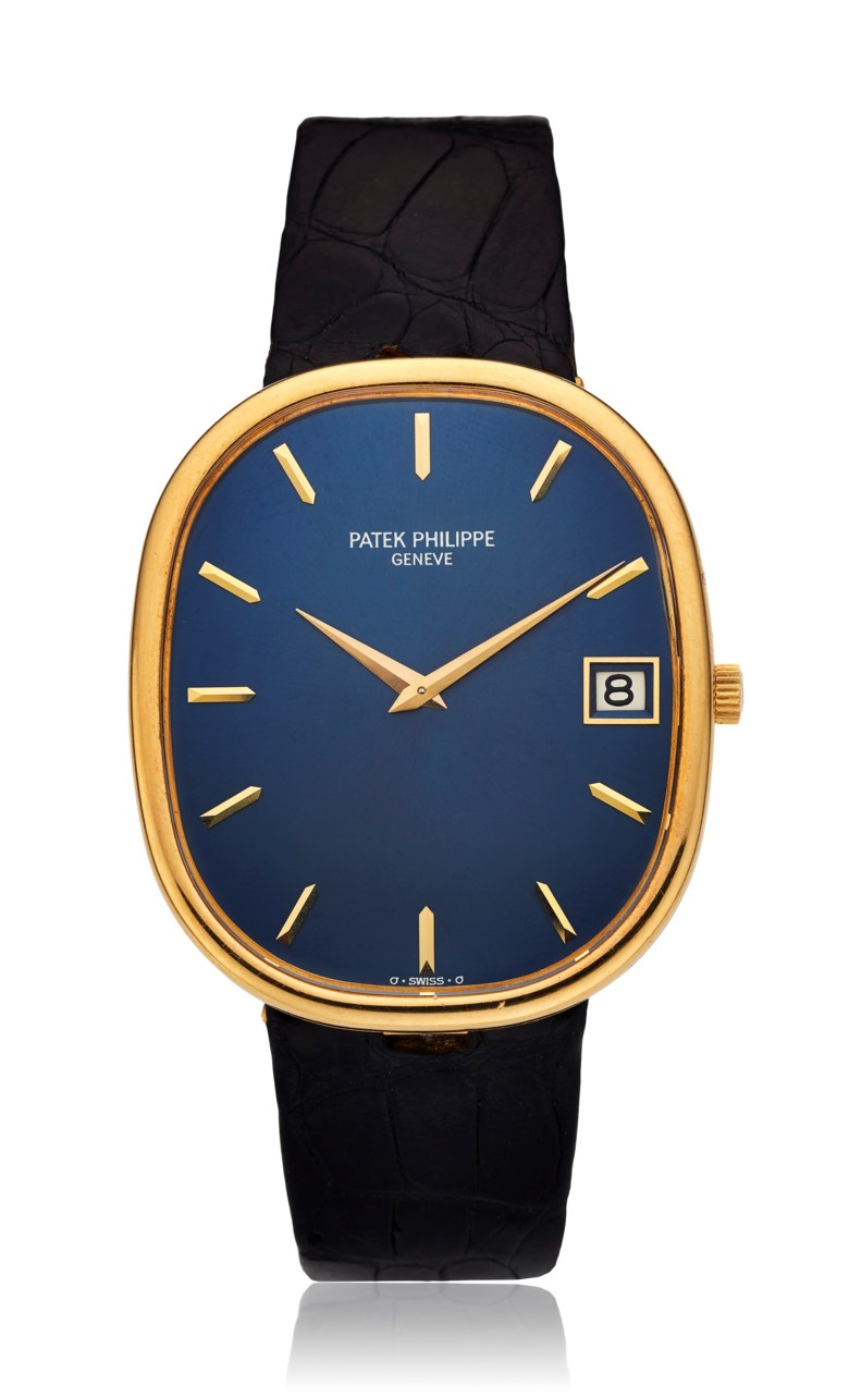 Patek Philippe, 18k Ellipse 'Sigma dial', ref. 3605. Case diameter 36mm. Sold for $8,125, 8 May 2018, Online