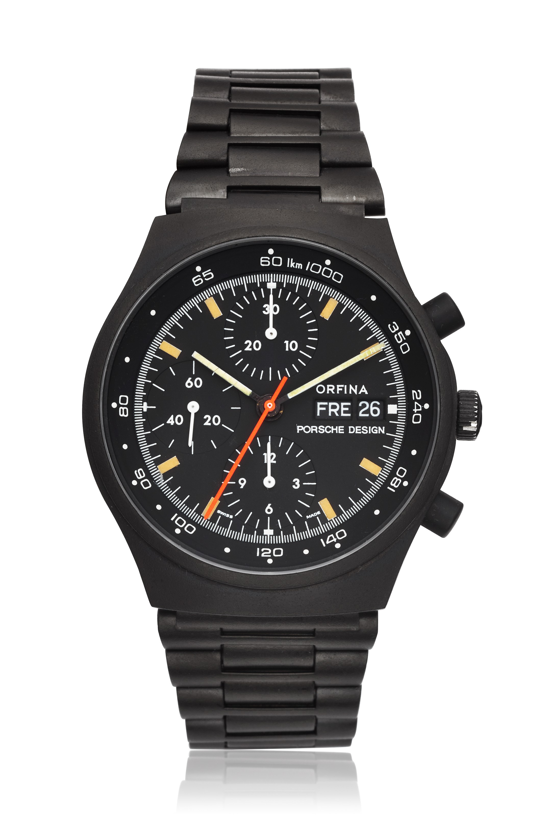 Orfina Pvd Porsche Design Chronograph Ref 7750 Christies