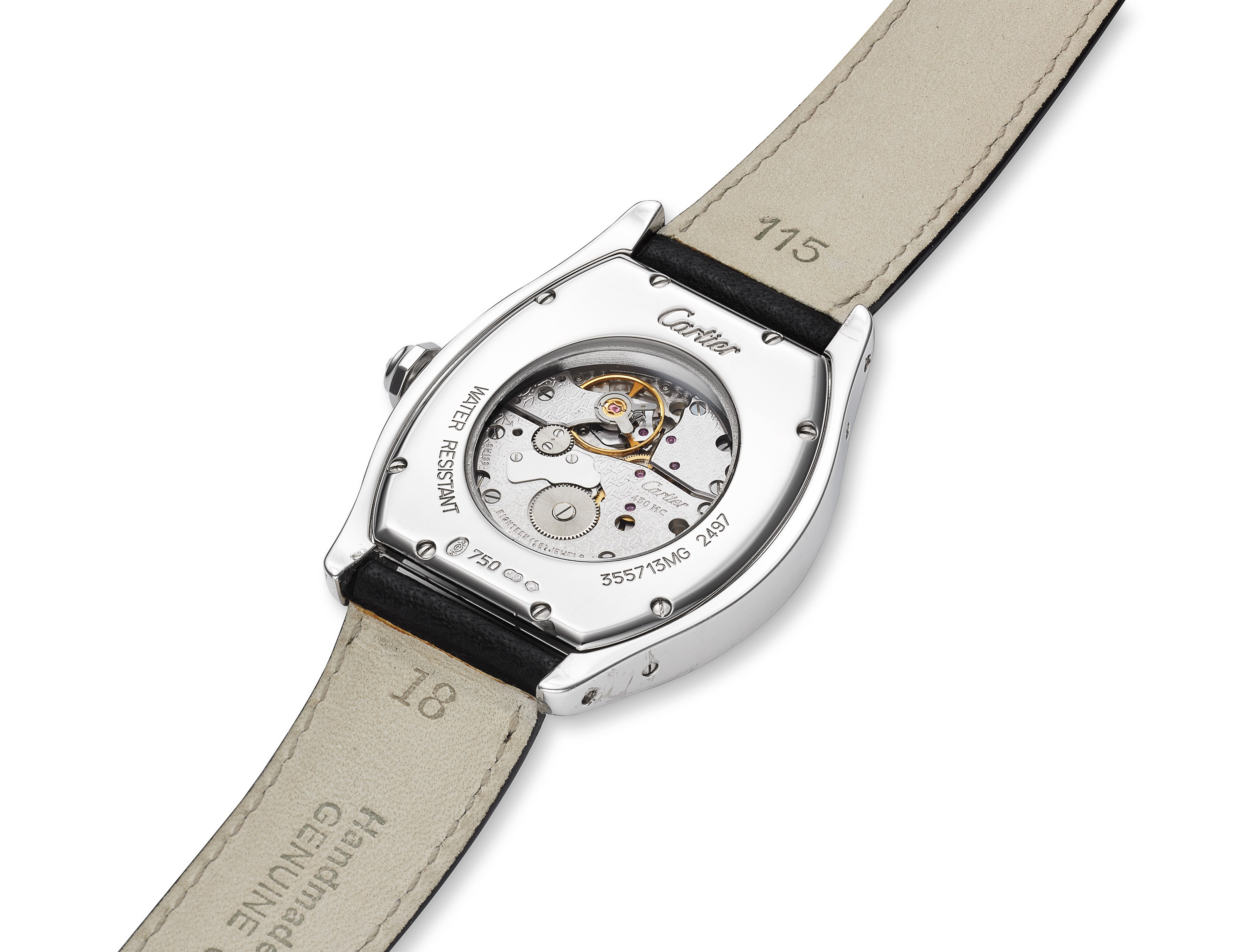 CARTIER, 18K WHITE GOLD TORTUE