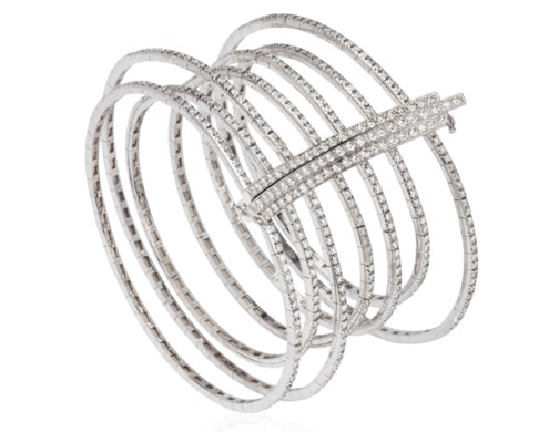 at diamond bracelet bracelets vonora bangle row white gold pave bangles