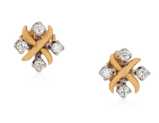 2d3468dcf TIFFANY & CO. SCHLUMBERGER 'LYNN' DIAMOND EARRINGS,   Christie's
