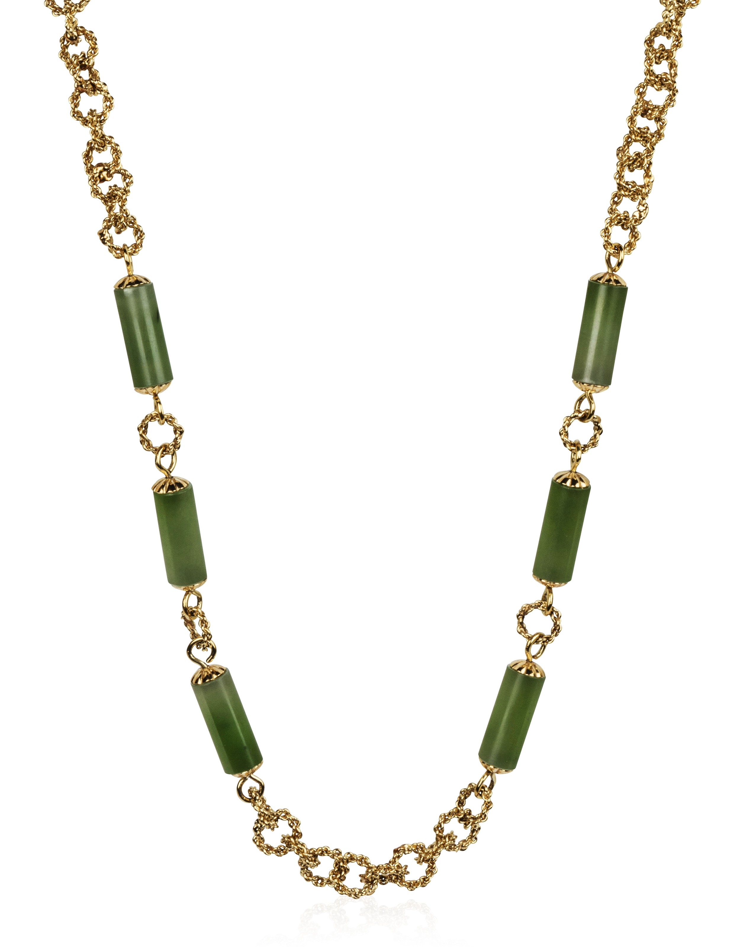 46e72216a TIFFANY & CO. JADE AND GOLD NECKLACE, | Christie's
