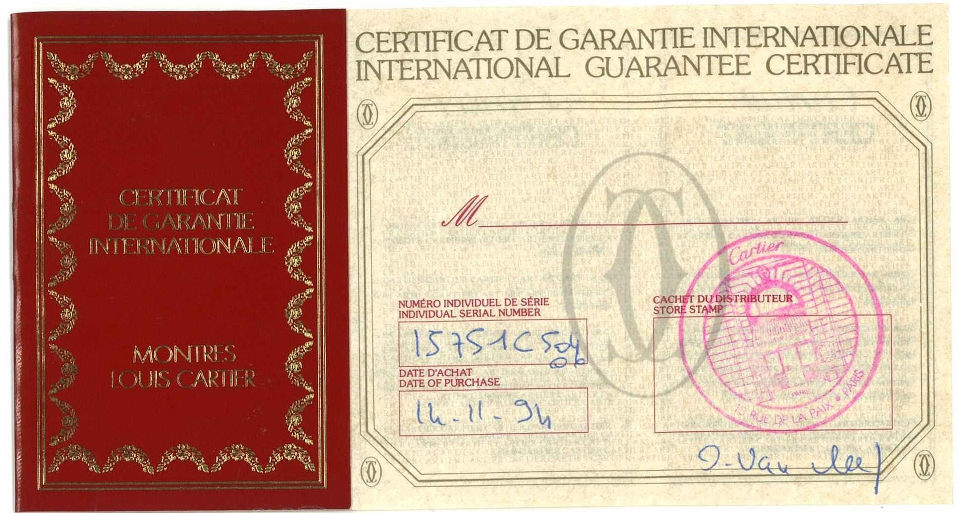 CARTIER, PLATINUM SANTOS DUMONT 90TH ANNIVERSARY, REF. 1575 1
