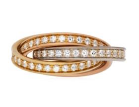 CARTIER 'TRINITY' DIAMOND RING