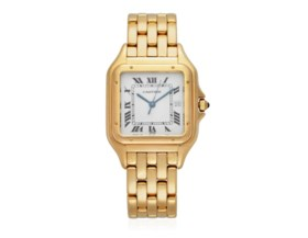 CARTIER 'PANTHERE' GOLD WATCH