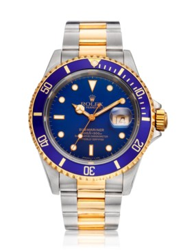 ROLEX, TWO-TONE SUBMARINER 'W-SERIAL', REF. 16613