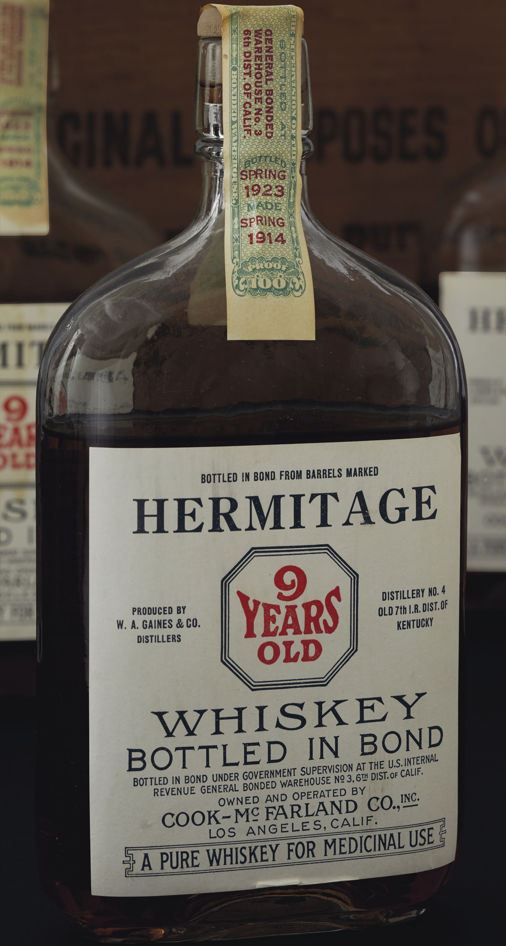Hermitage Whiskey Bottled in Bond 9 Years Old 1914 | 24