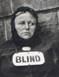 Blind Woman, New York, 1916