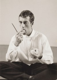 'Forbidden Fruit' (David Wojnarowicz Eating an Apple in an Issey Miyake shirt) from The Twelve Perfect Christmas Gifts from Dianne B., 1983