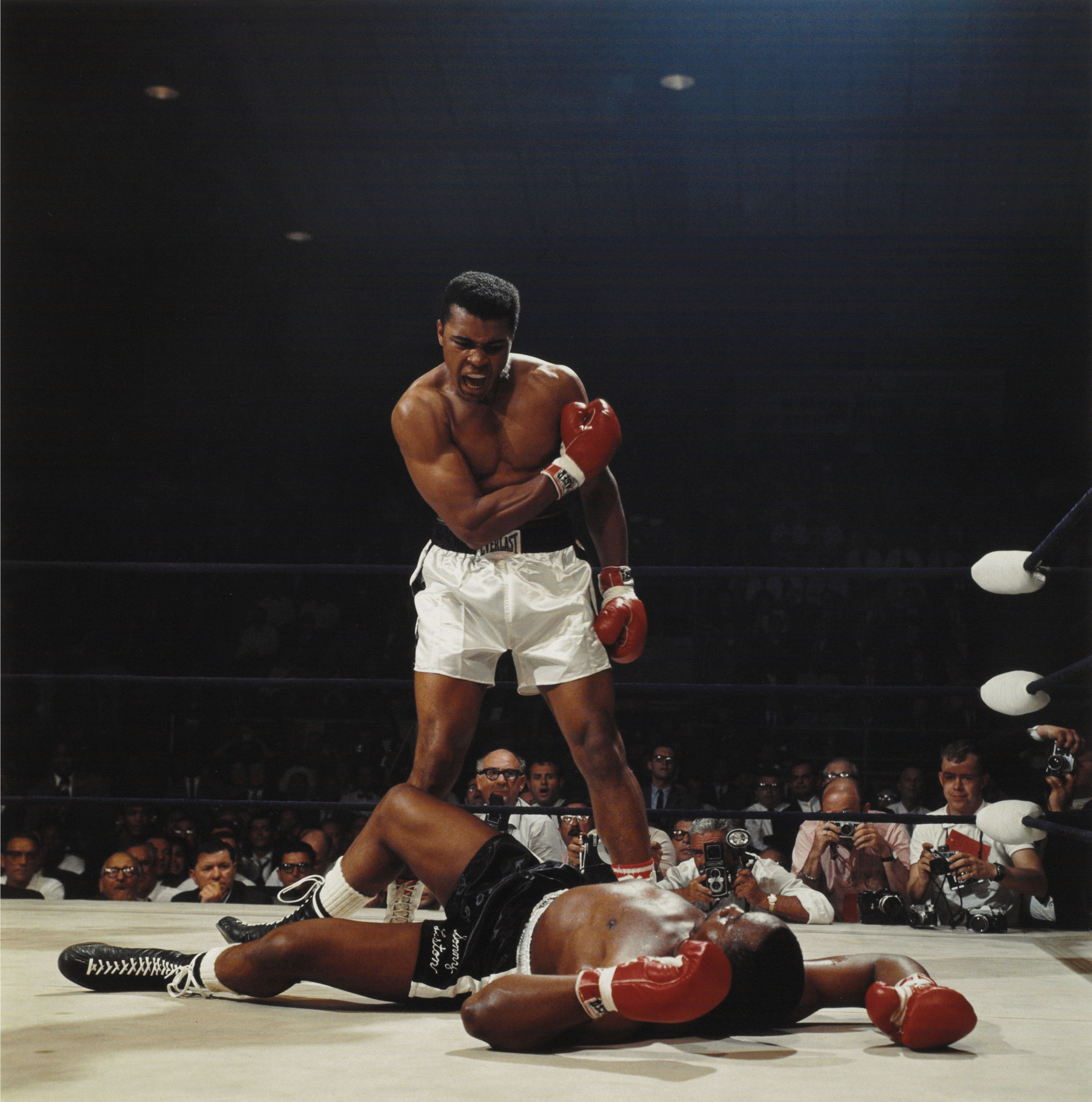 Muhammad Ali, first round knockout of Sonny Liston, St. Dominic's Arena, Lewiston, Maine, 1965