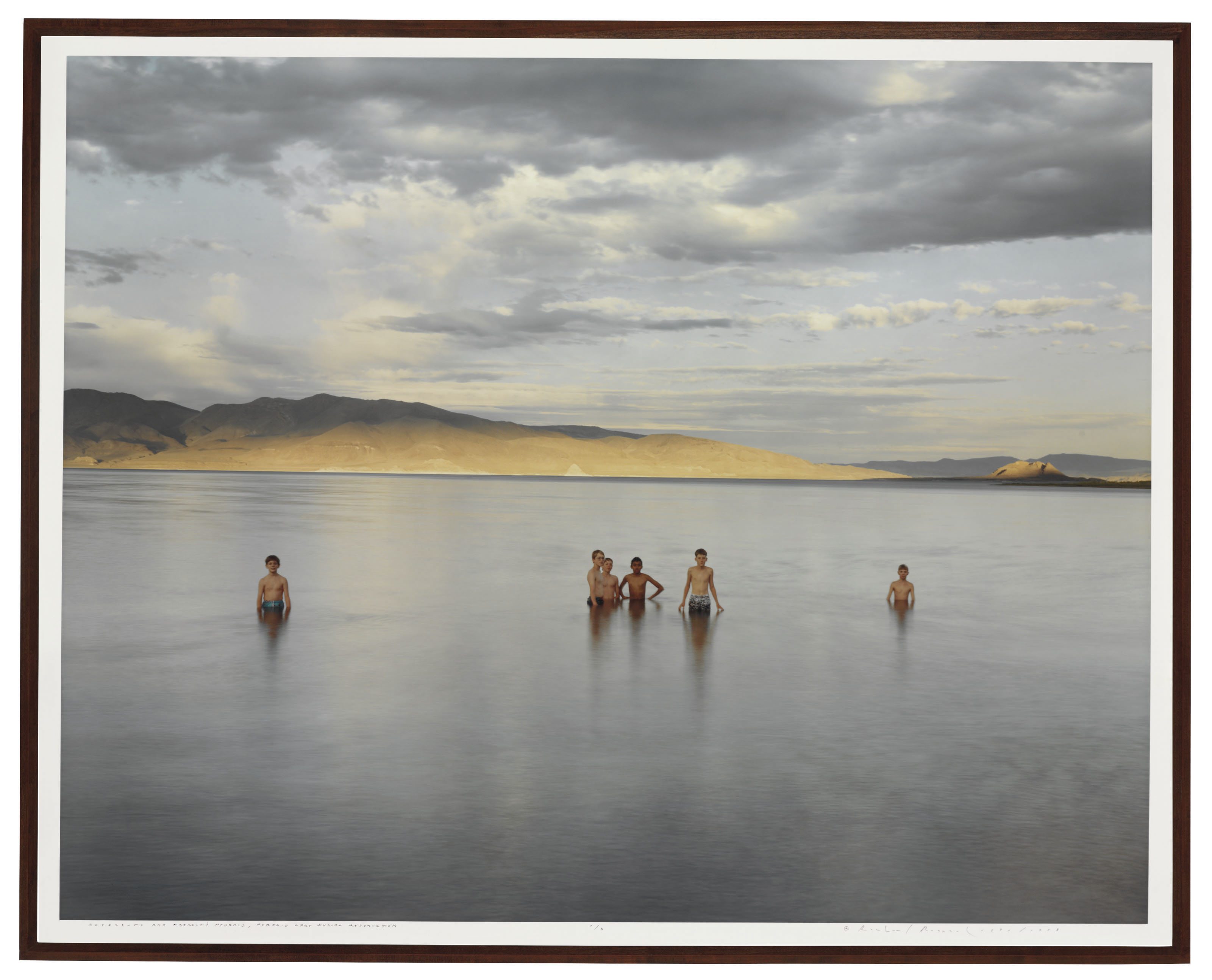 Boy Scouts and Fremont's Pyramid, Pyramid Lake Indian Reservation, 1991