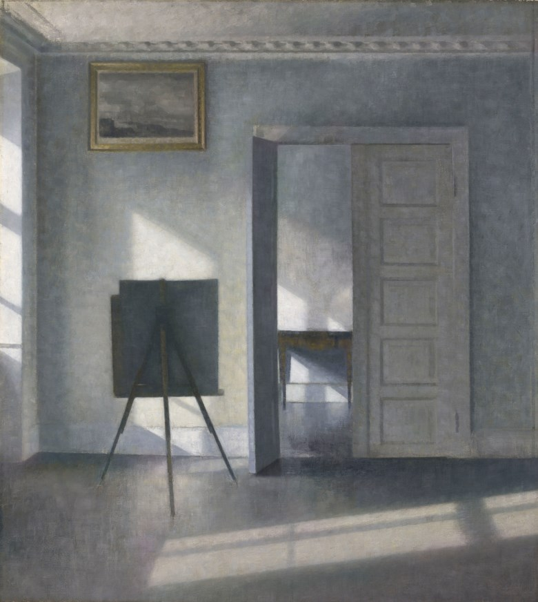 Vilhelm Hammershøi (Danish, 1864–1916), Interior with an Easel, Bredgade 25. Sold for $5,037,500 on 31 October 2018 at Christie's in New York
