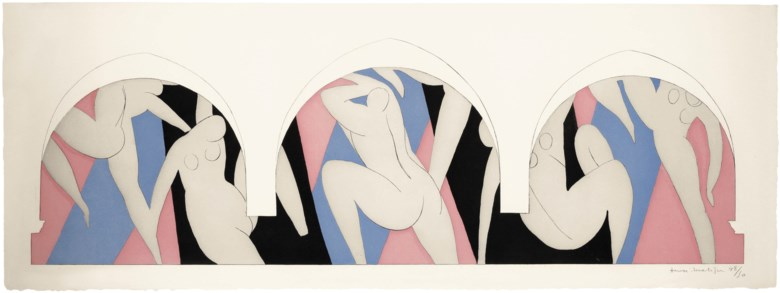 Henri Matisse (1869-1954), La Danse. Sheet 11 ¾ x 31⅝  in (300 x 805  mm). Estimate $80,000-100,000. This lot is offered in Prints & Multiples on 23-25 October 2018 at Christie's in New York © 2018 Succession H. Matisse  Artists Rights Society (ARS), New York
