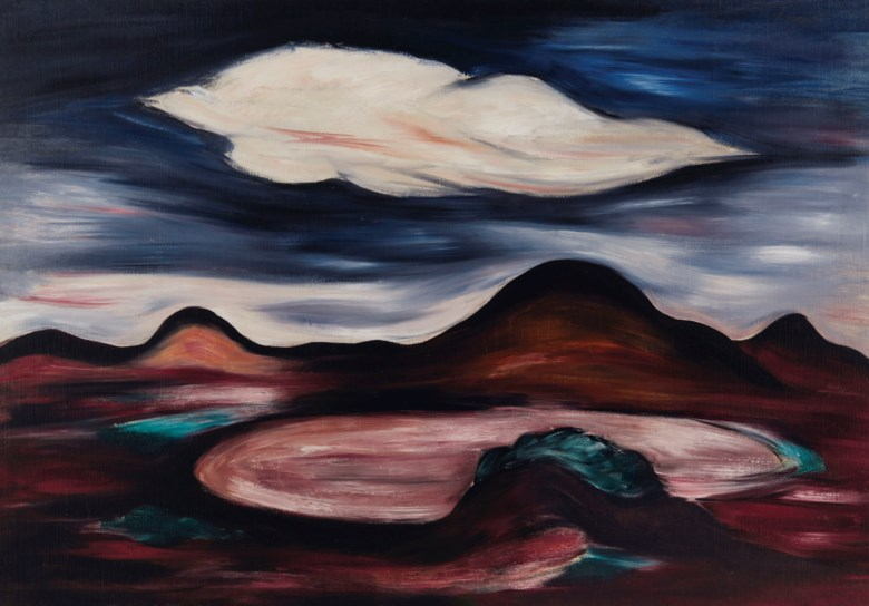 Marsden Hartley (1877-1943), Landscape with Single Cloud, painted in 1922-23. 28½ x 41  in (72.4 x 104.1  cm). Sold for $876,500 on 20 November 2018 at Christie's in New York